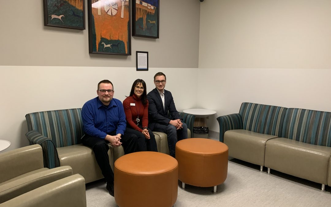 Friends of Chinook spruce up furniture in ICU waiting room